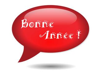 """Icône Bulle """"BONNE ANNEE !"""" (nouvel an année carte vœux janvier)"""