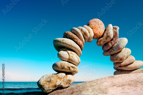 Curve of pebbles