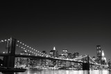 Brooklyn Bridge and Manhattan Skyline At Night, New York City - Fine Art prints