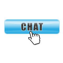 Button Chat blau