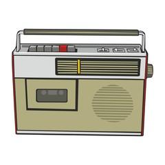 fully editable vector illustration cassette player