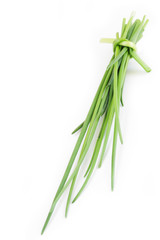 chive on white background