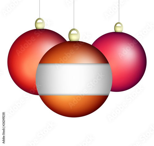 Baubles with blank label.