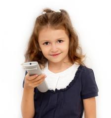 Bambina con telecomando
