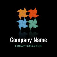 Pinwheel Origami Logo