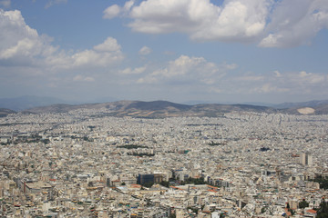 Ariel View of Athens, Greece