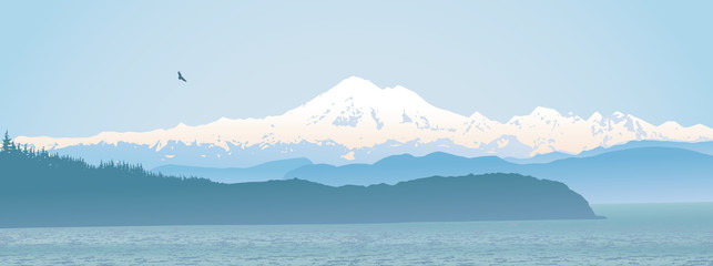 Mount Baker, Washington State panoramic