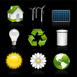 eco premium icons on black