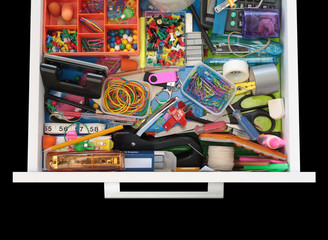 Mysteries of the Stationery Drawer on Black