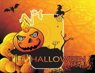 calabaza de halloween en vector