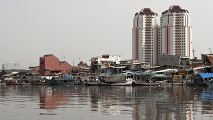 Old canal in Jakarta