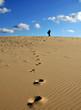 guetteur dans les dunes