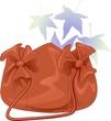 Brown colour ladies leather bag