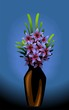 Flower vase in a dark background