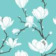 blue magnolia pattern