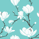 blue magnolia pattern