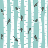 Fototapety trees pattern