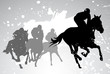 horse races. vector - 26271861