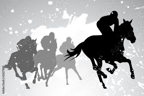 Fototapeta horse races. vector