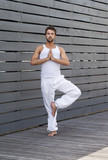yoga pose masculine homme poster
