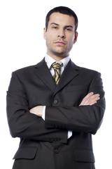 jeune homme d'affaires hautain décidé
