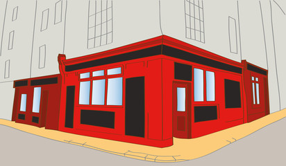 abstract vector illustration of irish pub in Dublin