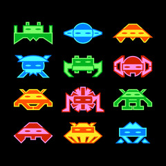 Custom designed space invaders similar to old arcade game