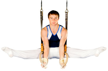 gymnast on white