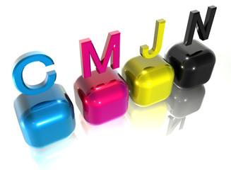 CMJN initials & cube