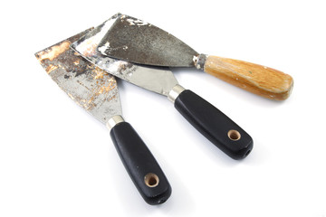 Used putty knives