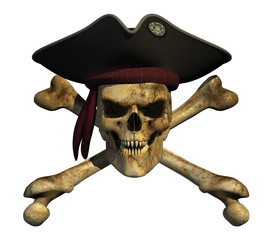 Grunge Pirate Skull - 3D render