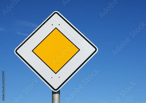 Vorfahrt Schild - Traffic Concept
