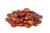 Raw eatable chestnut poster