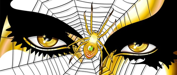 Occhi Donna Ragno-Spider Woman's Eyes-Vector