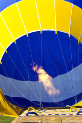 Colourful hot-air balloon