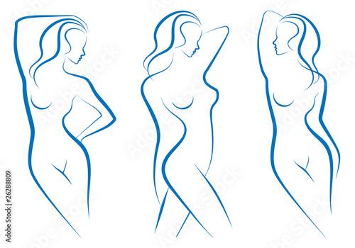 woman sketch, vector - 26288809