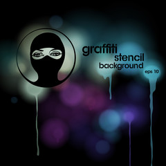 Graffiti stencil background, vector eps10