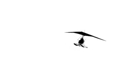 HD - Hand-glider in flight. Silhouette