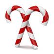 Bastoncini di zucchero natalizi