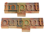 input and output poster