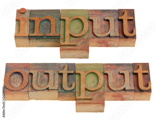 poster of input and output