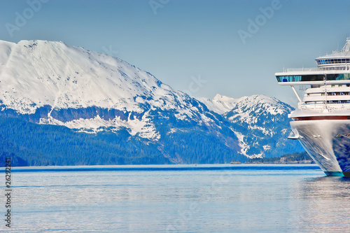 A cruise ship in Alaska