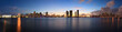 Downtown Miami and Biscayne Bay skyline panorama