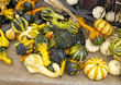 Decorative Gourds on table