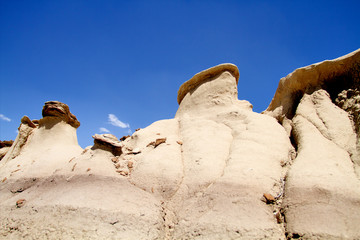 Rock formations at Bisti Wilderness