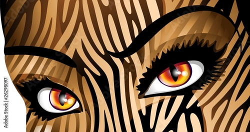 Occhi Donna Tigre-Tiger Woman's Eyes-Vector