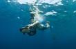 snorkeler on underwater scooter - 26298839