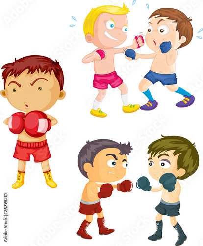 Boys Playing Boxing