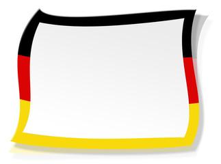 Deutschlandflagge - Visitenkarte