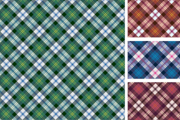 Set of scottish styled pattern